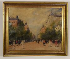 Antal Berkes (Hungarian, 1874-1938) Original Oil Painting on Canvas Signed