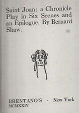 1924 FIRST EDITION GEORGE BERNARD SHAW JOAN OF ARC SAINT JOAN