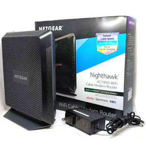 Netgear Nighthawk C7000 AC1900 WiFi Built-in DOCSIS 3.0 Cable Modem Router Works