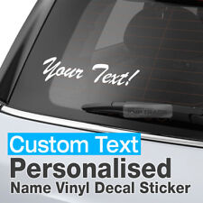 Personalized Custom Text Name Window Vinyl Decal Sticker B-Type For All Vehicle