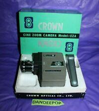 Vintage Crown Cine Zoom 8 Movie Film Camera With Box EZA 77424