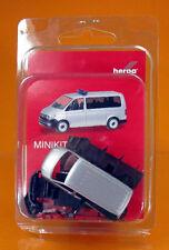 Herpa 012911 Herpa minikit: volkswagen VW t6 bus-plata metálica/Silver met.