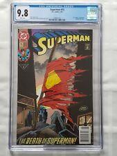 Superman #75 CGC 9.8 (1993) FIRST PRINT NEWSSTAND Death of Superman [DC Comics]