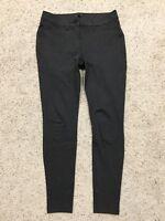 ANN TAYLOR LOFT Charcoal Gray PONTE LEGGINGS size 6 (Inseam 28.5) Skinny  Z88