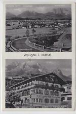 AK Wallgau, Gesamtansicht, Gasthof zur Post, 1940