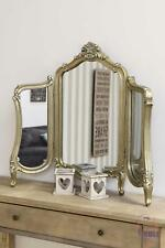 STUNNING Antique Design Standing Silver Dressing Table Mirror 2ft5 X 2ft10