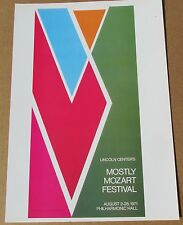 Larry Zox 1971 Mostly Mozart Festival Offset Litho 16x11 LC