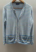 Paco Marine blau/weiß gestreift cardigan Größe Medium < C2433