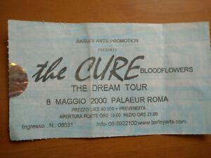 The Cure Concert Ticket Italy Rome -the dream tour RARE biglietto no autograph