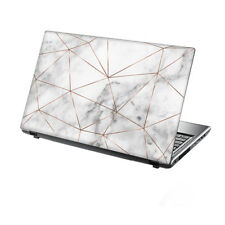 "15.6"" TaylorHe Laptop Vinyl Skin Sticker Decal Marble with Rose Gold Metal 2237"