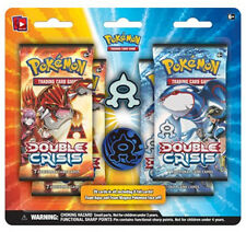 Pokemon TEAM AQUA Double Crisis Blister Set (4 booster packs, pin, coin)