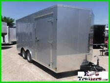 8.5 x 16 16ft Motorcycle V-nose UTV ATV Auto Lawn Service Enclosed Cargo Trailer