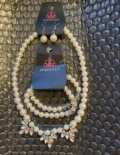 Paparazzi Necklace Earrings And 2 Bracelet Set