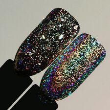 1 Box Luxury Flakes Nail Sequins Bling Laser Shinning Powder Glitter Chrome DIY
