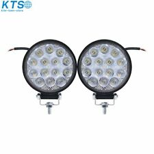 2X 4''Inch 42W Led Flood Round Work Light Offroad Truck Car SUV ATV Driving Lamp