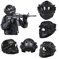 Militär Taktische Soft-Air Paintball Fast Schnelle Helm Goggles mit Maske Brille