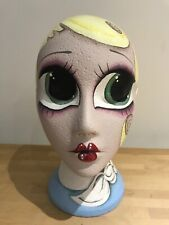 Designer Mannequin head hand painted vintage 1940s style yellow hair