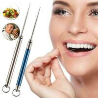 Dental Picks Toothpicks Brush Clean Tooth Interdental Reusable Titanium All N3I4