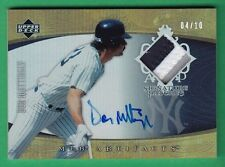 2005 Artifacts DON MATTINGLY AUTOGRAPH PATCH Yankees *RARE 04/10