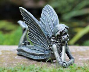 Magical Fairy Garden Ornament Bronze effect Figurine Angel Statue Gift 25cm