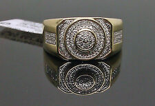 10K Yellow Gold Men's Diamond Ring 0.20Ct/ Wedding Band/ Pinky Ring