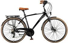 """28"""" aluminio citybike bicicleta, 21 velocidades Shimano, horquilla, frenos de discos"""