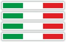 4x Italien Small Stripes With Flag Sticker for Helmet Motorcycle Bike Bumper PC