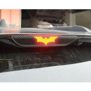 3Pcs Car 3D Batman Carbon Fiber Sticker Brake Tail Light Decal Car Accessories