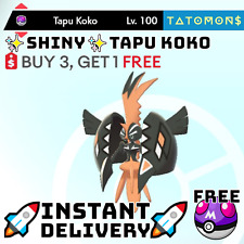 ✨Shiny Tapu Koko✨ Legendary Pokemon Sword and Shield 6 IV 🚀Fast Delivery🚀