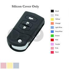 Silicone Cover fit for MAZDA 2 3 5 6 RX-8 MX-5 Flip Remote Key Case 3 BTN 11C BK