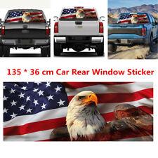 American Flag Eagle Car Rear Window Graphic Decal Tint Sticker Decor 54''*14''