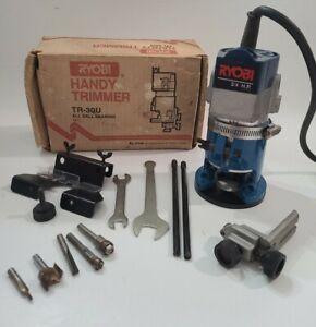 "RYOBI Handy Trimmer TR-30U 3.8AMP 29,000 RPM 1/4"" Trim Router Box vintage read⬇️"