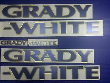 "Grady-White boat Emblem 40"" GOLD BLUE Epoxy Stickers Resistant to mech shock"