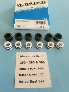 Mercedes Benz M110 2.8 Engine Valve Seal Set - 250,250C, 280, 280C, 280S, 280SE
