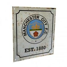 Manchester City FC Retro Vintage Style Wall Door Sign Established 1880