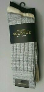 Gold Toe ADC Hampton 3 Pack Casual Ribbed Comfort Socks Size 6-12.5 A2