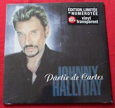 Johnny Hallyday, partie de cartes / les larmes de gloire, Maxi Vinyl transparent