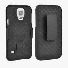 10X Verizon Brand Samsung Galaxy S5 Shell / Holster Case w/ Kickstand in Black