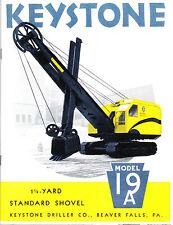 Keystone Model 19-A 1¼-Yard Shovel - 1941 sales catalog - reprint