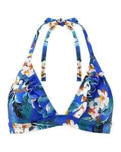 Gossard Blossom triangle print bikini top