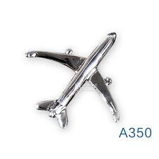 Airbus Air Bus A350 Badge Silver Plane Pin Brooch Souvenir for Pilot Flight Crew