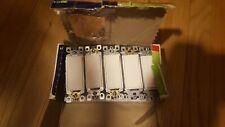 10 Leviton  5601-2WM 15A-120/277V AC/CA Rocker Single Pole AC Quiet Switch White