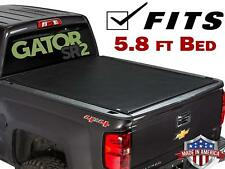 Premium Roll Up Tonneau Cover For 2014-2018 Chevy Silverado Sierra 5.8ft Bed LED