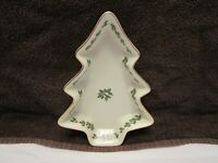 Holly Collection Christmas Tree Shaped Candy Dish   Formalities by Baum Bros.