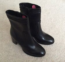 Ladies Dune Black Leather Ankle Boots - Brand New - Size UK 5