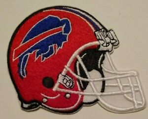 """Buffalo Bills Embroidered PATCH~3 1/8"""" X 3""""~Helmet~Iron Sew On~NFL~Ships FREE"""