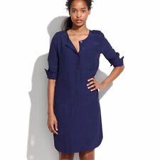 Madewell Cargo Long Sleeve Tunic Shirt Dress In Navy Blue Size M Medium