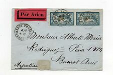 !!! FRANCE, 1930 AIRMAIL COVER TO BUENOS AIRES, FRANKING ON BOTH SIDES