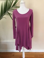 Simpli The Best Purple Tunic Swing Top Shirt Blouse Lagenlook Sz 4 Stretch