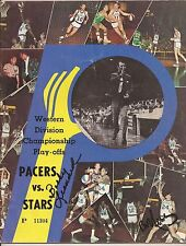 1971 UTAH STARS AT PACERS GAME 1 PLAYOFFS GAME PROGRAM SIGNED BY BOBBY LEONARD
